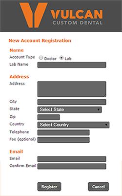 Customer Portal Instructions - Vulcan Custom Dental